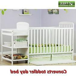 4-in-1 Changing Combo Crib, White