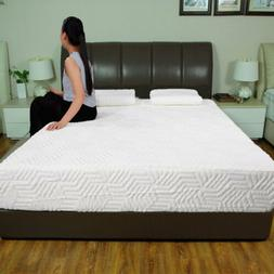 "10"" Full Size 3-Layer COOL Medium-Firm Memory Foam Mattress"