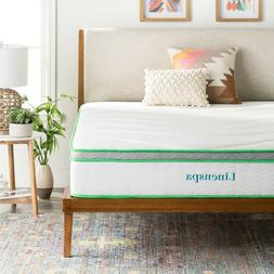 Linenspa 10 Inch Innerspring and Memory Foam Mattress - Twin