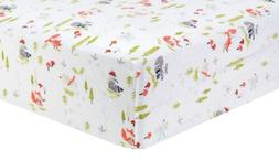 Trend Lab 101249 Winter Woods Deluxe Flannel Fitted Crib She