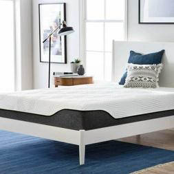 "12"" King Size Cool Medium-Firm Memory Foam Mattress Bed with"