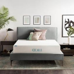 Lucid 12 inch Gel Foam Mattress - Medium-Plush Feel - Twin F