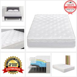 12 Inch Zinus Spring Support King Size Mattress Green Tea Me