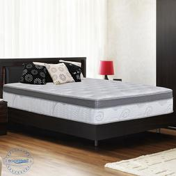 "SLEEPLACE 13"" Euro Box Memory Foam Top Spring Mattress, Bed,"