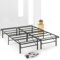 """14"""" Metal Bed Frame Mattress Foundation Extra Sturdy Steel S"""