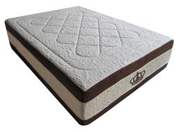 "Dynasty Mattress 15.5"" Atlantis Breeze GEL Memory Foam-KING-"