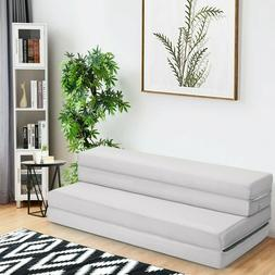 "4"" Folding Sofa Bed Foam Mattress with Handles"