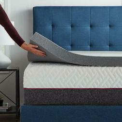 Lucid 4 Inch Bamboo Charcoal Infused Memory Foam Mattress To