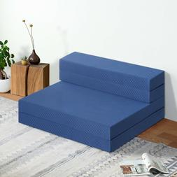 SLEEPLACE 4 Inch Tri-Folding Memory Foam Mattress and Sofa B