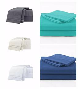 4 Piece Bed Sheet Set 1800 Thread Count Deep Pockets For Ove