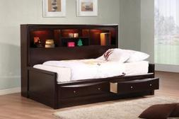 400410T Coaster Phoenix Youth Twin Daybed In Deep Cappuccino