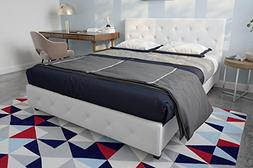 DHP Dakota Faux Leather Upholstered Platform Bed Frame Signa