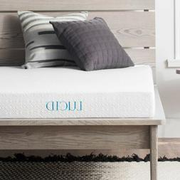 LUCID 5 inch Gel Memory Foam Mattress Dual Layered Firm Feel