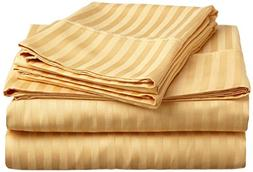 500 Thread Count American Home Room 1-Piece Fitted Sheet Gol