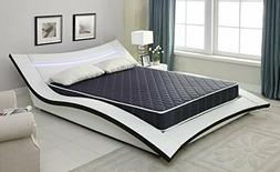 """AC Pacific 6"""" Foam Mattress with Navy Blue Waterproof Cover"""