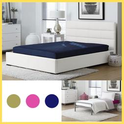 6 In Twin Full Size Quilted Bunk Mattress Navy Pink Kids Sof
