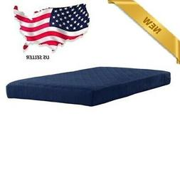 6 In Twin Size Quilted Bunk Mattress Navy Kids Bedding