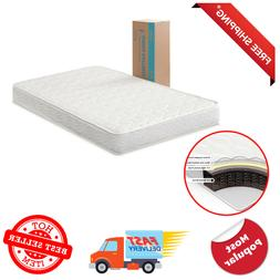 6 Inch Innerspring Mattress Full Size Bed Extra Firm Quilted