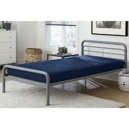 Dhp 6 Inch Quilted Mattress, Twin, Navy