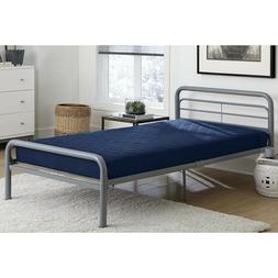 6 inch Twin Size Quilted Twin Bunk Mattress Navy Blue Kids B