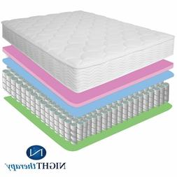 "8"" Night Therapy Premium Tight Top Spring Mattress Size Twin"