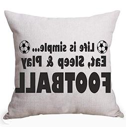 Best& for The World Cup Life is Eat Sleep Play Football Cott