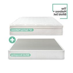 Night Therapy Spring 12 Inch Euro Box Top Mattress and BiFol