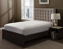 """The Grand - Fitted Quilted Mattress Pad - Stretches To 18"""" D"""