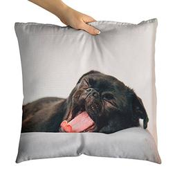 Westlake Art - Dog Yawn - Decorative Throw Pillow Cushion -