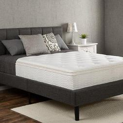 "Zinus AZ-MCE-1200T Euro Box Top Classic Spring 12"" Mattress,"