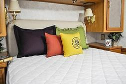 AB Lifestyles RV Camper Mattress Pad Diamond Quilted Bed Fit