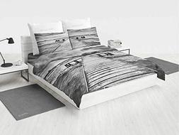 Art Baby boy Bedding Sets Old Wooden Deck in Storm with Wave