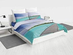 Art Baby boy Bedding Sets View from a Deck at Tropical Islan