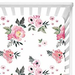 Sahaler Baby Floral Fitted Crib Sheet for Boy and Girl Toddl