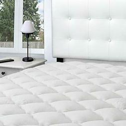 eLuxurySupply Bamboo Extra Thick Mattress Pad with Fitted Sk