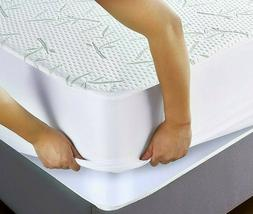 BAMBOO Mattress Protector Waterproof Soft Hypoallergenic Fit