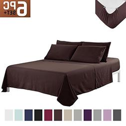 Sfoothome Bed Sheet Set With 4 Sheet Clips - Deep Pockets -