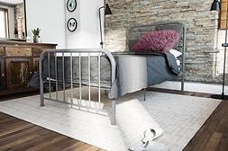 Novogratz Bellamy Metal Bed Frame Under Bed Storage, Grey, T