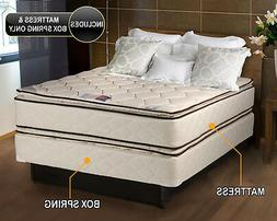 Coil Comfort Pillowtop King Size Mattress and Box Spring Set