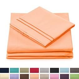 Cosy House Luxury Bed Sheets Set 4 Pc - Hypoallergenic & Wri