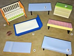 COT~Crib~Bed~Counter~Table~CHOOSE PLAYMOBIL MINIATURE~Dollho