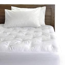 REST SYNC Down Alternative Mattress Pad/Topper-Circle Quilte