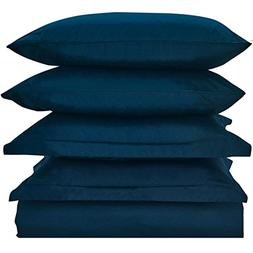 Mellanni Duvet Cover Set Royal-Blue - Double Brushed Microfi