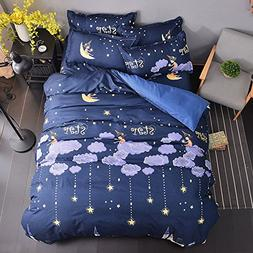 Full Duvet Cover Set with Zipper Closure Luxury Soft Microfi