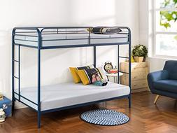 Zinus Easy Assembly Quick Lock Metal Bunk Bed with Dual Ladd
