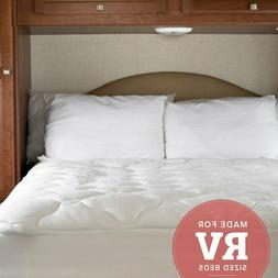 Extra Plush Bamboo RV Bed Topper w Fitted Skirt Pressure Rel