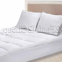 Extra Plush Mattress Topper Cover Pad Hypoallergenic King Si