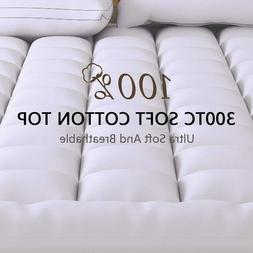 Extra Thick Mattress Topper Twin Size Down Alternative Pillo