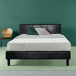 Zinus Jade Faux Leather Upholstered Platform Bed with Wooden