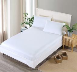 Fitted Bed Sheet Mattress Pillowcases Bedding Set Elastic Ba